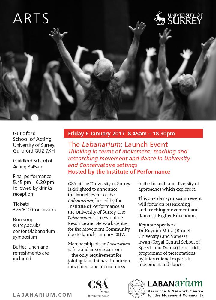 Labanarium Launch event: Thinking in terms of movement symposium on teaching movement and dance in HE