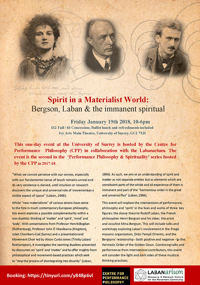 Spirit in a Materialist World: Bergson, Laban and the immanent spiritual